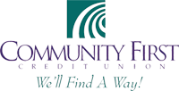 Community First Credit Union Logo.